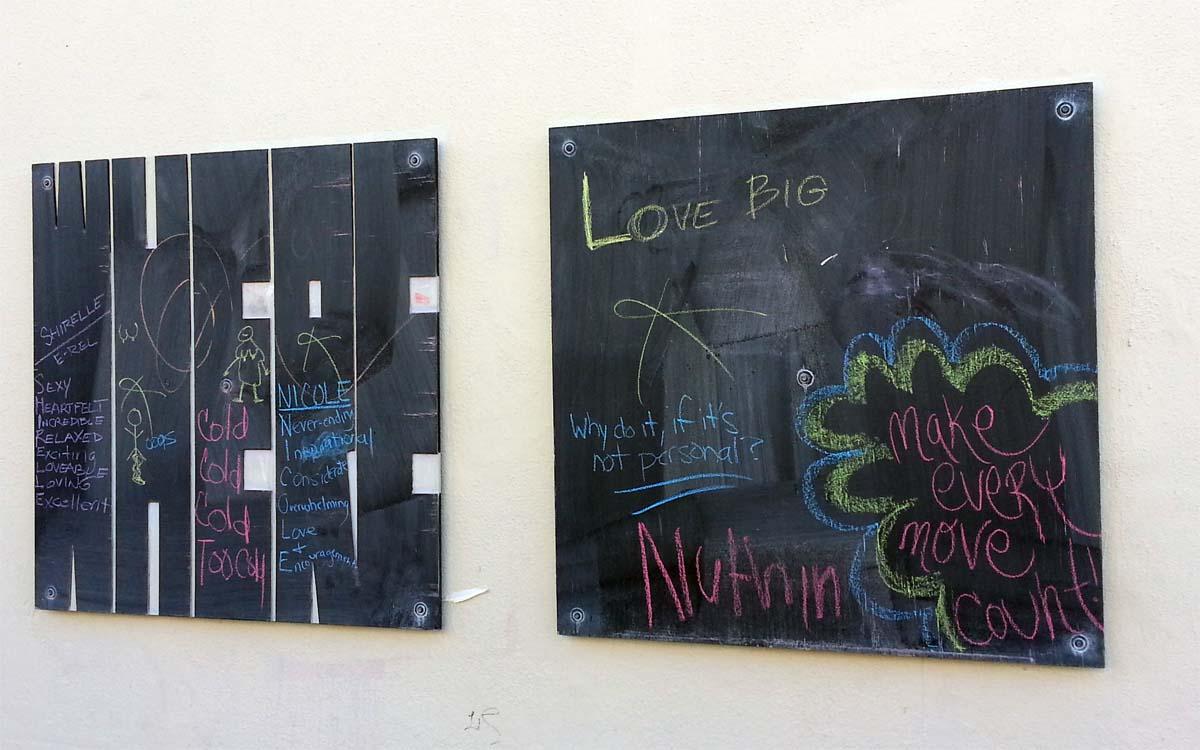 Community Art - Blackboards attached to random 5M area building