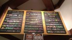 The tap list at Harry's Hofbrau